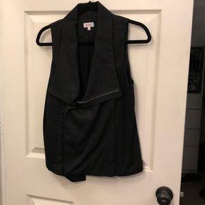 Black vest with zipper, never worn